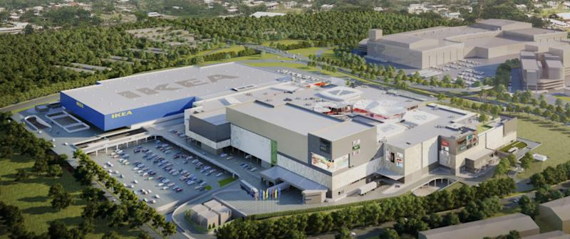 A screenshot taken from the website showing an artist impression of the Toppen Shopping Centre.