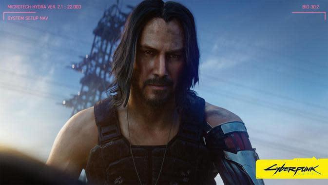 Penampilan Keanu Reeves di gim Cyberpunk 2077. (Doc: Ubergizmo)