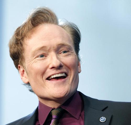 FILE - In this May 24, 2012 file photo, comedian Conan O'Brien speaks at the John F. Kennedy Presidential Library in Boston. O'Brien will be spending a late night with President Barack Obama. The White House Correspondents' Association has chosen O'Brien as the featured act for its annual dinner on April 27. (AP Photo/Michael Dwyer, File)
