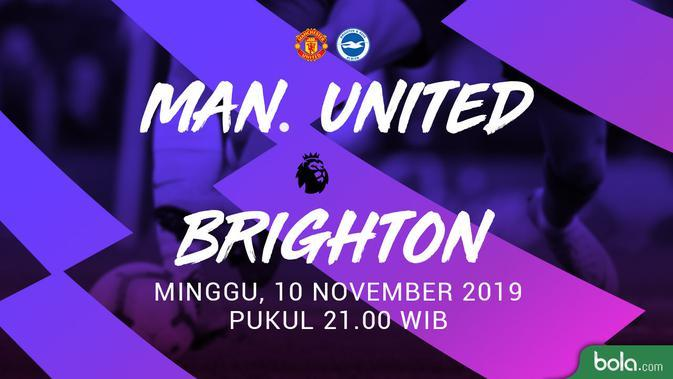 Premier League - Manchester United Vs Brighton (Bola.com/Adreanus Titus)