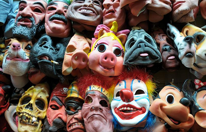 A laboratory's disgusting find, with germs and mold discovered in rubber Halloween masks.