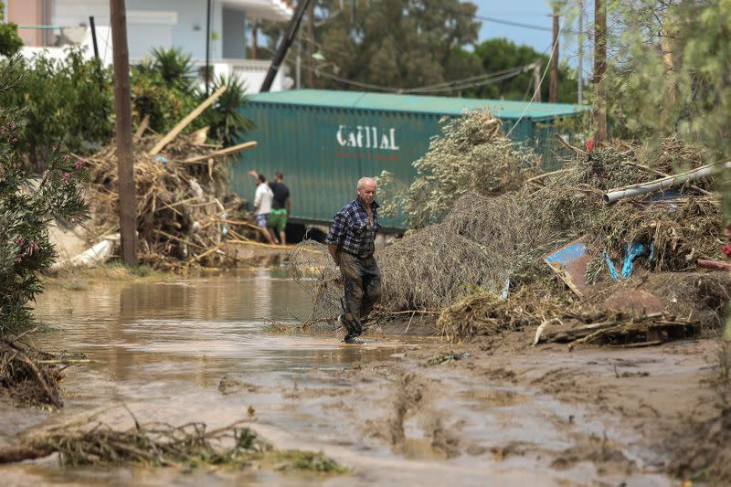 Baby among seven killed as thunderstorms flood Greek island homes