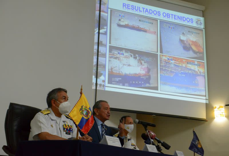 Ecuador says some Chinese vessels near Galapagos have cut communications systems
