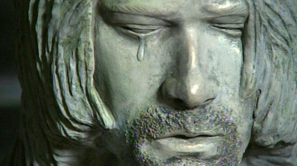 Creepy Crying Kurt Cobain Statue Unveiled in Aberdeen