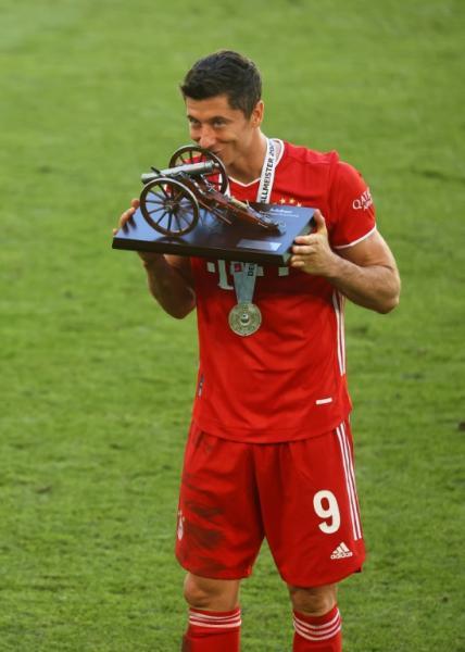 Lewandowski was the Bundesliga top-scorer this season