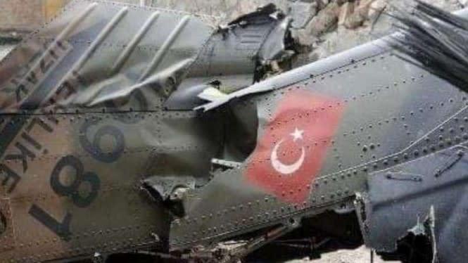 Helikopter Sikorsky Militer Turki Hancur Ditembak Pasukan Kurdi