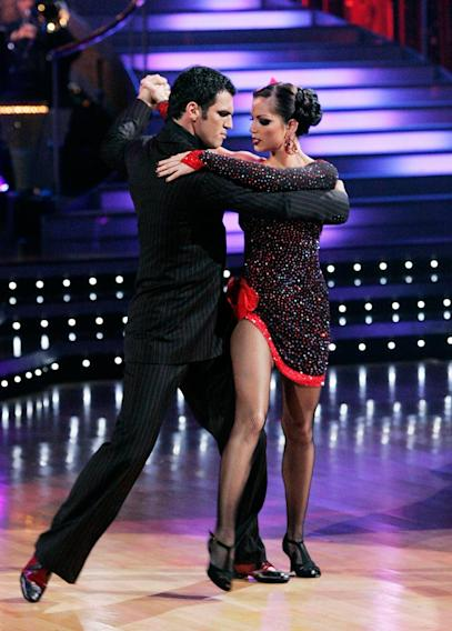 "Melissa Rycroft and Tony Dovolani perform the Argentine Tango to ""Mi Confesión"" by Gotan Project on ""Dancing with the Stars."""