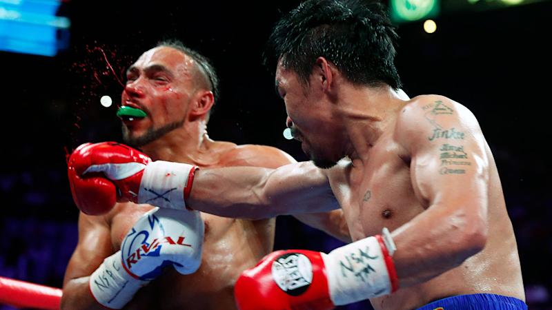 Pacquiao's hand speed caused Thurman plenty of problems.