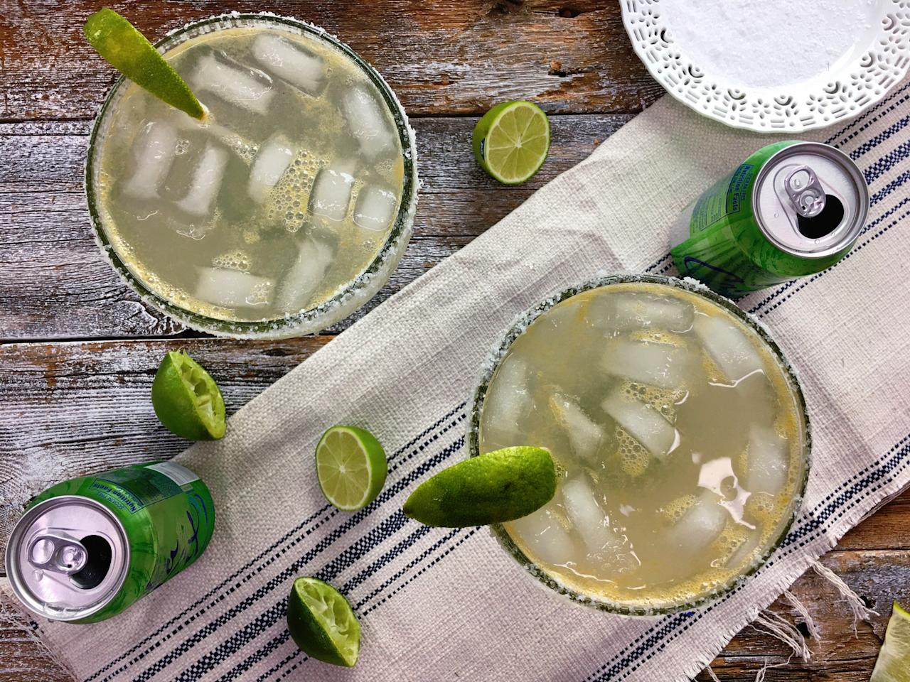 "<p>For a lighter spin on the classic margarita, look no further than a can of lime <a href=""https://www.myrecipes.com/recipe-finder/how-to-make-easy-light-pina-colada-coconut-la-croix"">LaCroix</a>, or your favorite lime-flavored seltzer water of choice. With no added sugar, this skinny version is super easy to make and comes with significantly less guilt. Serve in a festive margarita glass rimmed with salt, if desired.</p> <p><a href=""https://www.myrecipes.com/recipe/la-croix-margarita"">La Croix Margarita Recipe</a></p>"