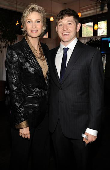 Jane Lynch and Lucas Neff