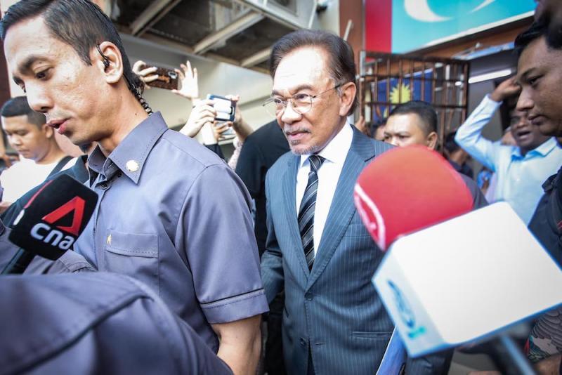 PKR President, Datuk Seri Anwar Ibrahim leaving the PKR headquarters in Petaling Jaya February 24, 2020. — Picture by Hari Anggara