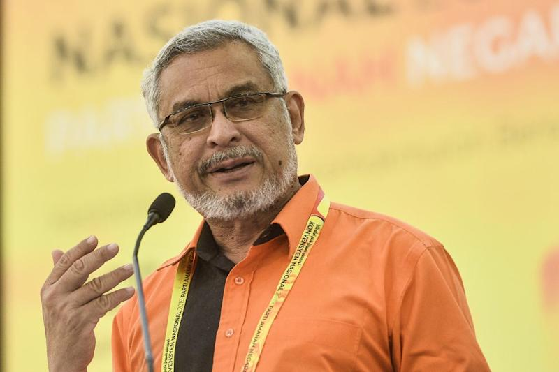 Amanah communications director Khalid Samad speaks during the party's convention in Shah Alam December 6, 2019. ― Picture by Miera Zulyana