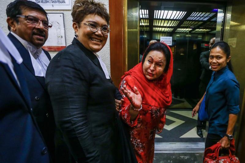 Datin Seri Rosmah Mansor arrives at the Kuala Lumpur Court Complex June 18, 2019. — Picture by Hari Anggara