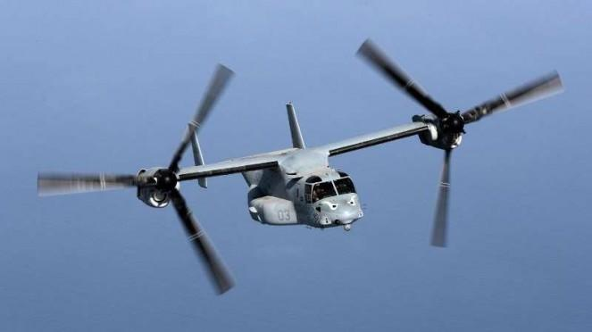 VIVA Militer: Pesawat hibrida tiltrotor Boeing Bell MV-22 Osprey