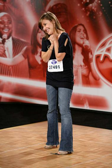 Omaha Audition: Samantha Sidley, 22, Los Angeles, CA, performs in front of the judges on the 7th season of American Idol.