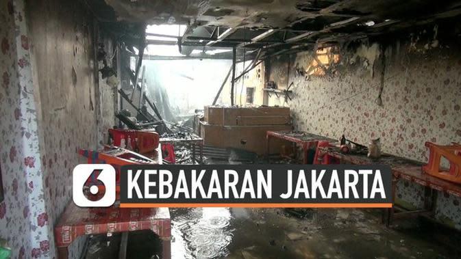 VIDEO: Ledakan Kompor Gas Hanguskan Konveksi di Tanah Abang