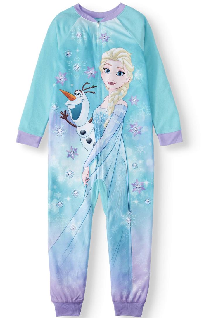 Disney Frozen Elsa and Olaf Blanket Sleeper Onesie Pajama. (Photo: Walmart)