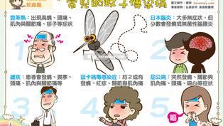 常見的蚊子傳染病