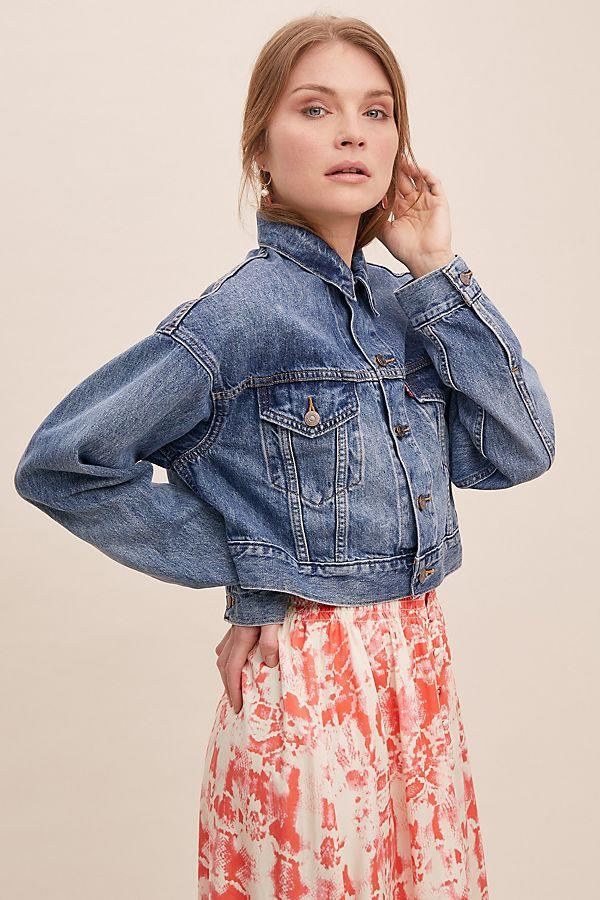 Levi's Cropped Trucker Denim Jacket