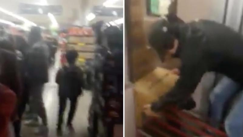Shoppers filmed stockpiling baby formula Woolworths storeroom
