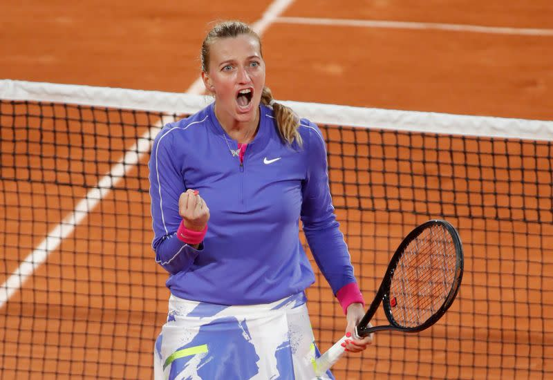 Kvitova survives stern test against teenager Fernandez