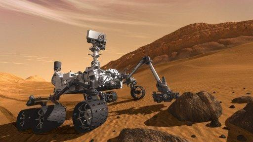 An artist's impression of the Mars Curiosity rover. NASA is counting down to the landing of its largest ever rover on Mars, where it will search for signs that life
