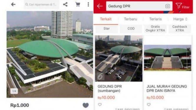 Shopee Hapus Iklan Jualan Gedung DPR