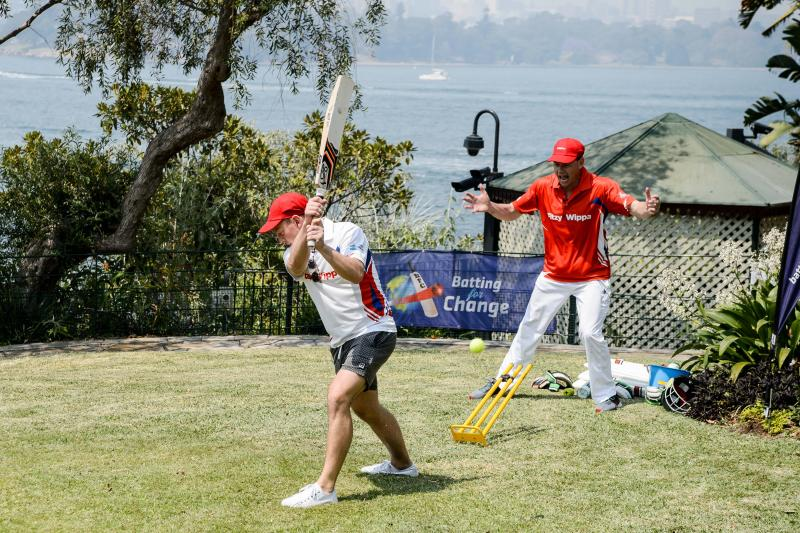A photo of Karl Stefanovic and Mark Ferguson at a charity cricket match.
