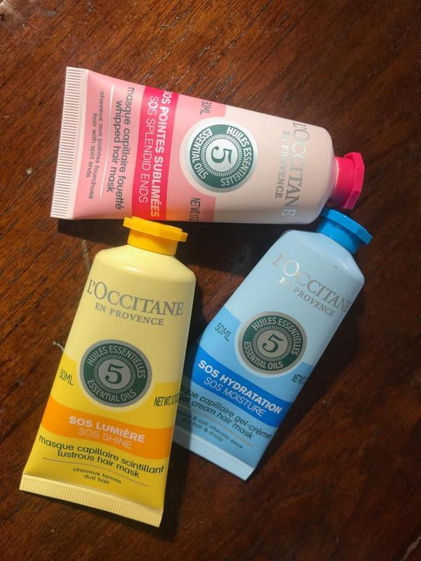 The SOS range hair mask dari L'Occitane (Foto: Adinda Tri Wardhani)