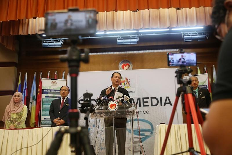 Health director-general Datuk Dr Noor Hisham Abdullah said Malaysia has recorded five new Covid-19 cases today, of which three were imported. — Picture by Choo Choy May