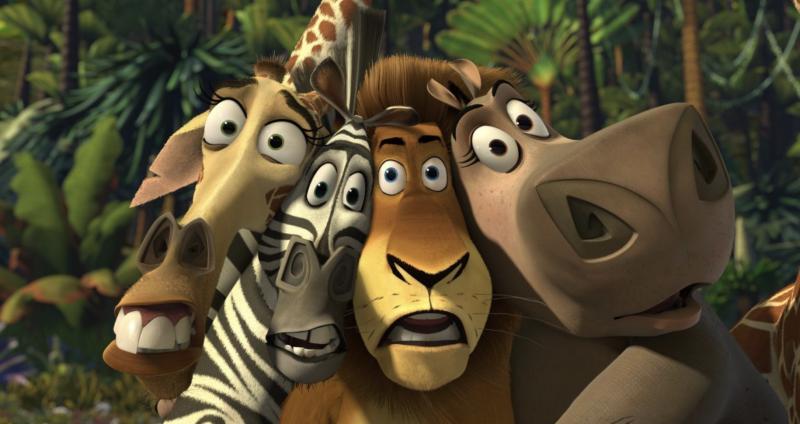 DreamWorks' 2005 animation <i>Madagascar</i> featured the voices of David Schwimmer, Chris Rock, Ben Stiller and Jada Pinkett Smith. (DreamWorks)