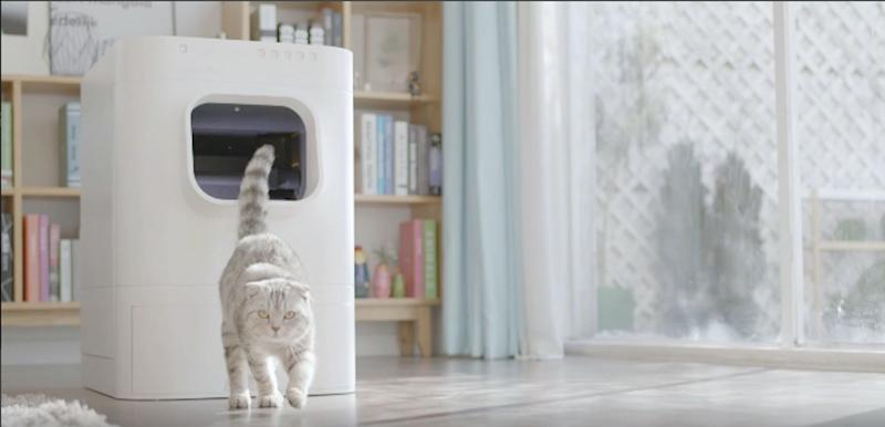 Behold — a smart litter box. Image Source: Screenshot from LavvieBot promotional video