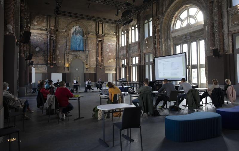 Virus Outbreak Belgium School Reopening