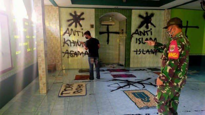 Pelaku Vandalisme Sering Salat 5 Waktu di Musala yang Dicoretnya