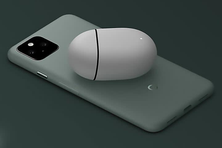 Google Pixel 5 charging earbuds
