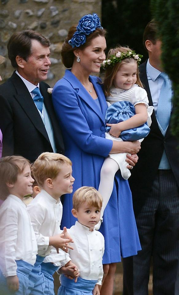 <p>Having held the same roles at Pippa Middleton and Meghan Markle's wedding, Prince George and Princess Charlotte knew exactly what to do in front of the camera. Photo: Australscope </p>