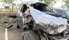 國道意外》遭撞翻車 爬出又遭撞1死1傷