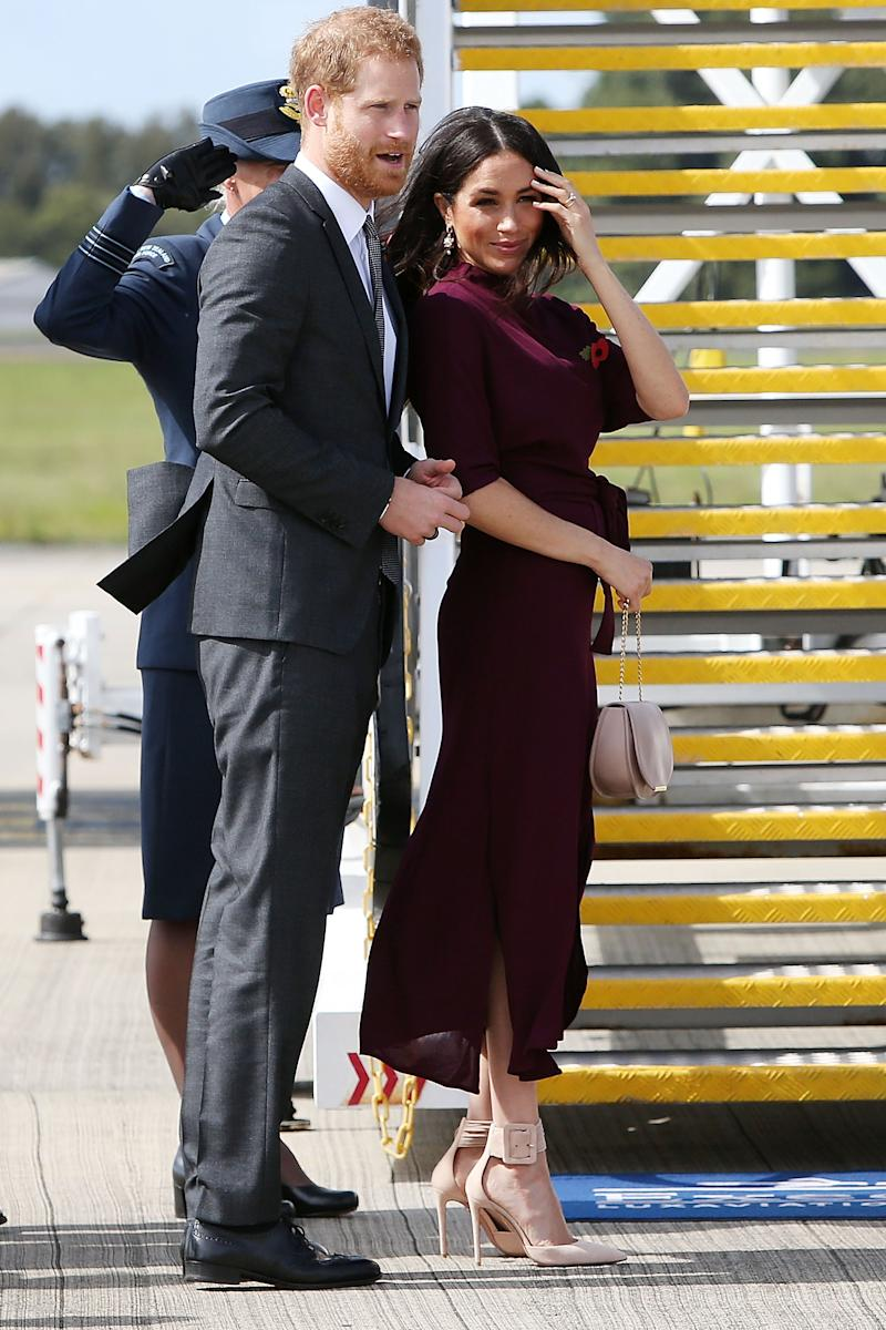 The Duke and Duchess of Sussex depart Sydney on their official 16-day Autumn tour visiting cities in Australia, Fiji, Tonga and New Zealand.