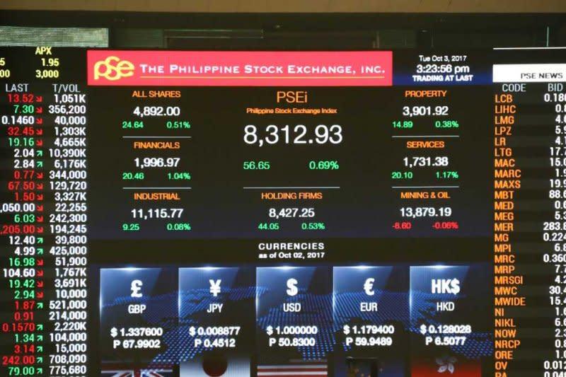 Saham Filipina ditutup lebih rendah, indeks PSE turun 0,48 persen