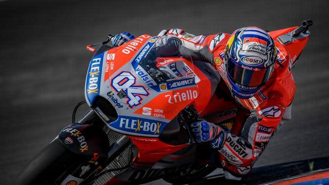 Pembalap Ducati Corse, Andrea Dovizioso meraih hasil buruk pada FP2 MotoGP Argentina 2018. (Twitter/Ducati Motor)