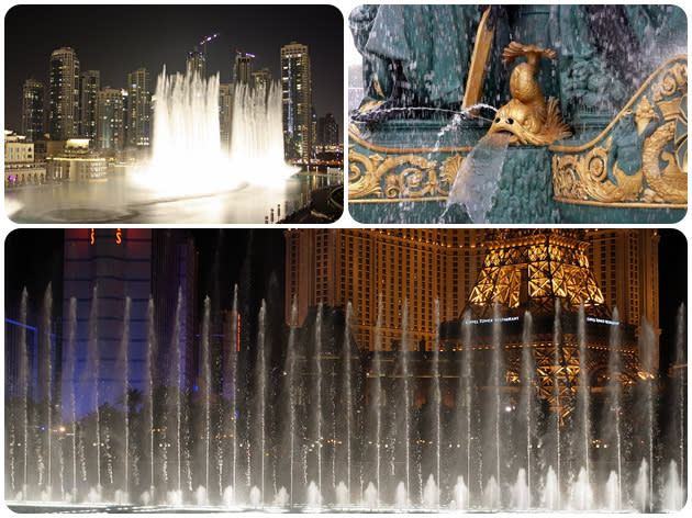 World's best fountains, in pictures