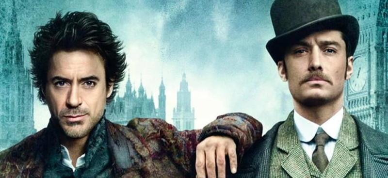 Robert Downey Jr. and Jude Law in Sherlock Holmes