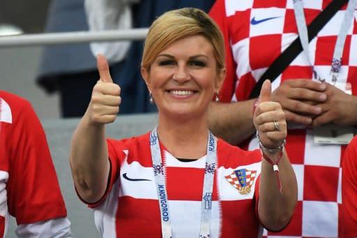 Croatian President Kolinda Grabar-Kitarovic will be at the World Cup final in Moscow