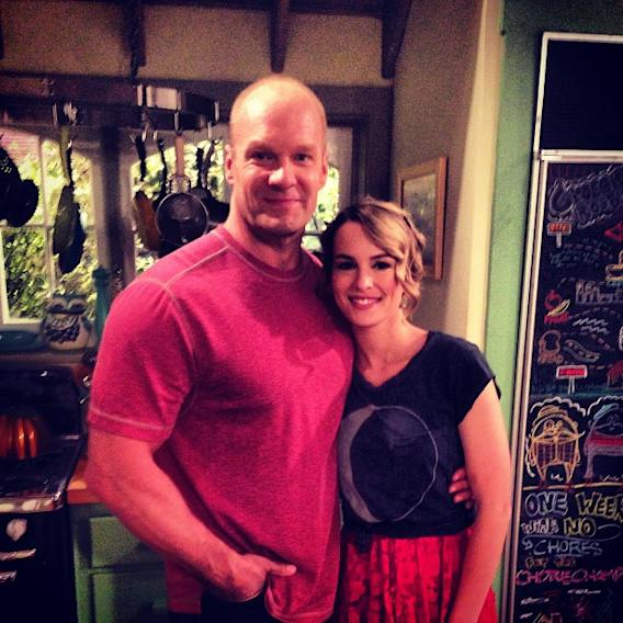 Father and daughter… One last scene and one last bit of advice… #goodluckcharlie @bridgitmendler
