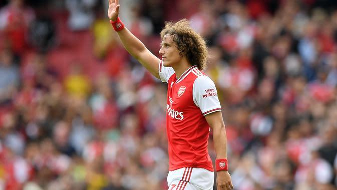 David Luiz ketika membela Arsenal. (AFP/Daniel Leal-Olivas)