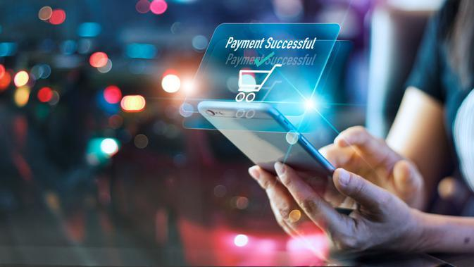 Ilustrasi transaksi digital/Shutterstock.