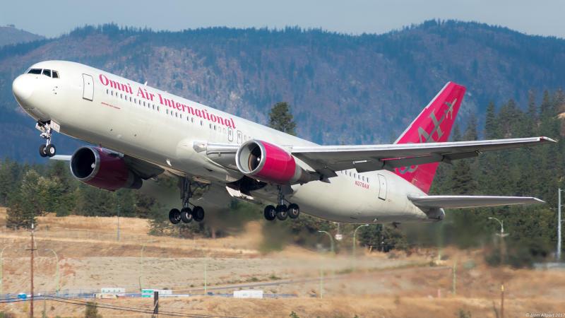 N378AX Omni Air International Boeing 767-33A(ER). (Liam Allport via Flickr)