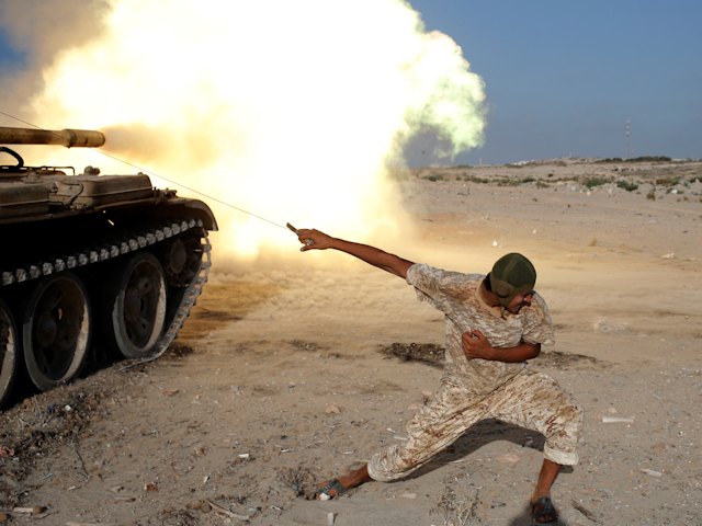 Libyan forces fights ISIS