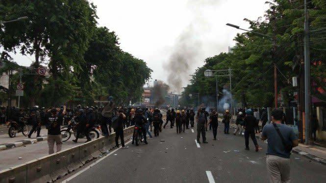 Polisi Ungkap Ada Pesan Ajak Remaja Rusuh di Demo Tolak Omnibus Law