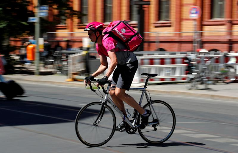 Foodora has been accused of underpaying delivery riders. Source: Reuters